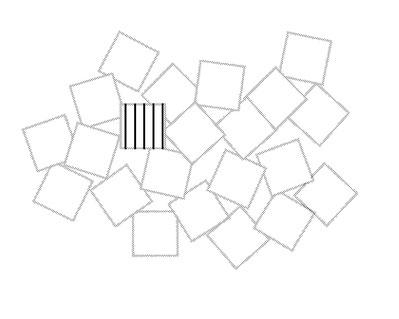 このように敷き詰めていくイメージ(トーン線は説明のために描き込んであります)