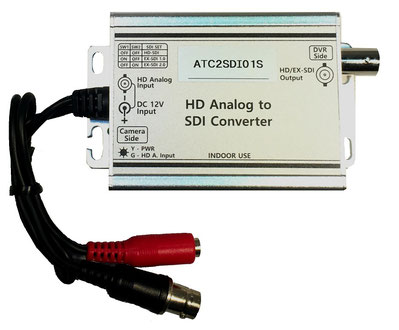 コンバーター本体写真( HD-TVI / AHD / CVI to HD-SDI EX-SDI 変換 )