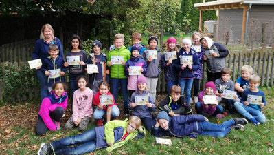 Schüler der Klasse 3/4a der Carolina-Friess-Grundschule