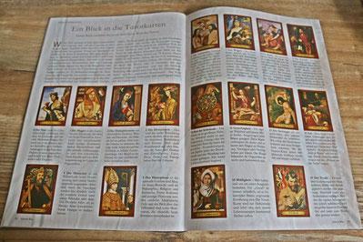 """Artikel """"Ein Blick in die Tarotkarten"""" von Karin Biela - Januar Ausgabe 2021"""