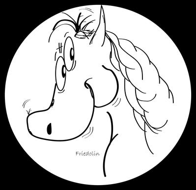 """Das Vereinsmaskottchen der Spielgemeinschaft! """"Pony-Friedolin""""!"""