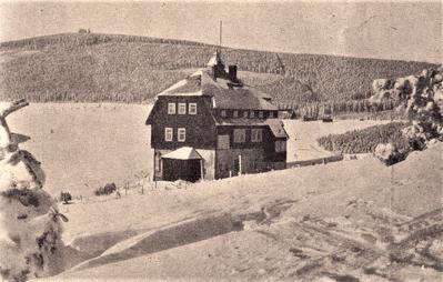 Skihütte des Chemnitzer Skiclubs in Oberwiesenthal Quelle: Sportprogramm 1939/40