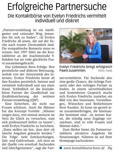Partnervermittlung troisdorf