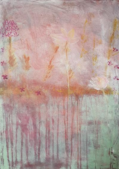 Artigkeit, Claudia Karrasch, Studio Bonn, Malen, Abstrakte Malerei, Nature 2, Acryl, auf Leinwand, 50 X 70 cm