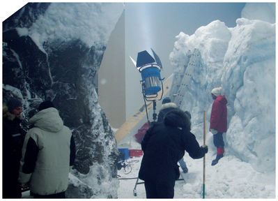 "Reinhold Messner, ""Nanga Parbat"" (Munich), Indoor snowmaking and glacier for film production"