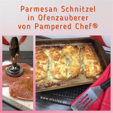 Parmesan Schnitzel im Ofenzauberer von Pampered Chef