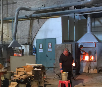 Glass factory in Murano