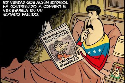 In realtà ci sono alcuni spagnoli che hanno contribuito al fallimento del Venezuela. (JM Nieto)