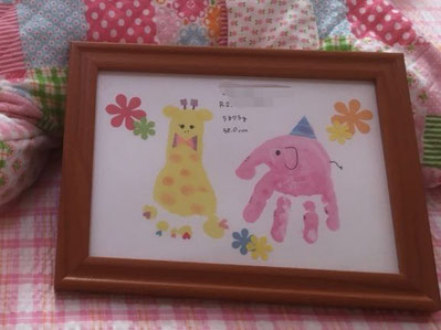 母乳外来 助産院 桶谷式 篠田母乳育児相談室での手形足形アート