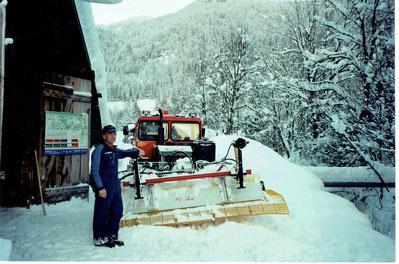 46 Jahre im Einsatz für den Wintertourismus. Hier im Januar 2003