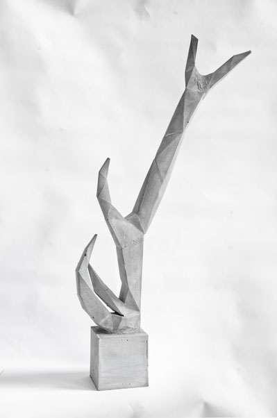 Concrete Antler Sculpture By PASiNGA Art