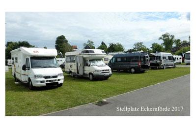 Unser Stellplatz in Eckernförde