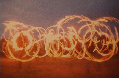 Feuershow Drachen- und Zirkusfest Eckwarderhörne 2007
