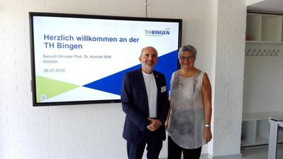 MdL Lerch mit TH-Präsident Becker