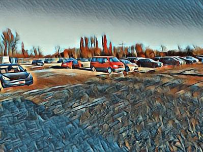 am flughafen parken in zürich