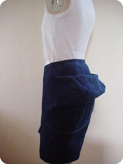 さかさまデニムスカートの着用写真