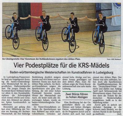 KRS - Mädels belegen 4 Podestplätze , Ludwigsburg