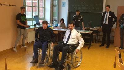 Jörg Rehbaum (links) und Falko Grabowski bei den olympischen Pflegespielen. Foto: Alpha-Report