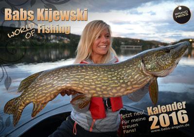 Babs Kijewski Kalender für Angler Geschenk Anglerinnen Fischkalender