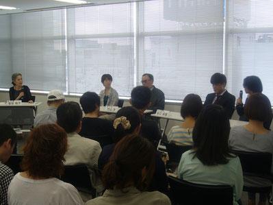左から 金谷祐子さん 坂口理子さん 竹山洋さん 谷口卓敬さん 黛りんたろうさん