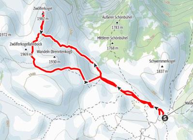 Zwölferkogel, Krippenstein, Gjaidalm, Hallstätter See, Gletscher