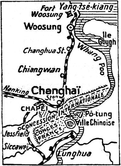 Plan Changhaï-Woosung. Les tragiques journées de Changhaï racontées par Albert Londres (1884-1932)  à partir des câblogrammes envoyés de Changhaï au quotidien parisien Le Journal, du 31 janvier au 5 mars 1932.