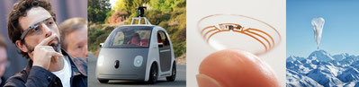 Google glasses, Google self-driving car, Google Contact Lenses, Google Loon.jpg