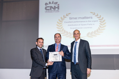 From l > r: Lorenzo Leone; EMEA Parts & Service Logistics CNH Industrial / Volker Zander; Senior Manager Customer Relations,  time:matters GmbH / Dror Noach; VP Global Logistics CNH Industrial