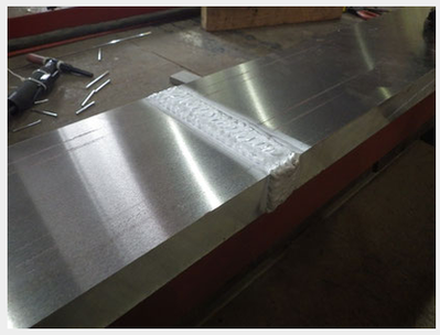厚板のアルミ溶接