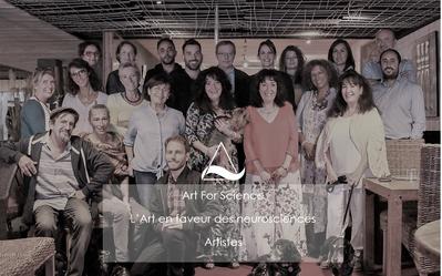 ART FOR SCIENCE ...2019...L'équipe ...Les Artistes ...et ...Le Professeur HUGUES DUFFAU Neuro Chirurgien et Directeur de recherches
