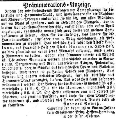 """Wiederholt publizierte Anzeige in der """"Wiener Zeitung"""""""