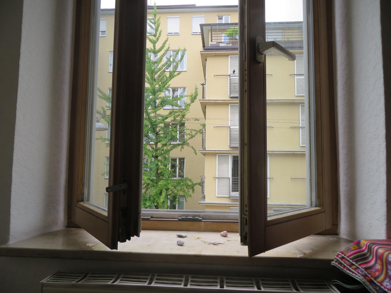 Blick aus dem Fenster - Hommage an eine unbekannte Alte