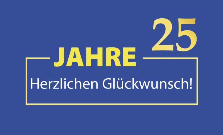 25 jahre - firmenjubiläum - gewerbeverein flein e.v.