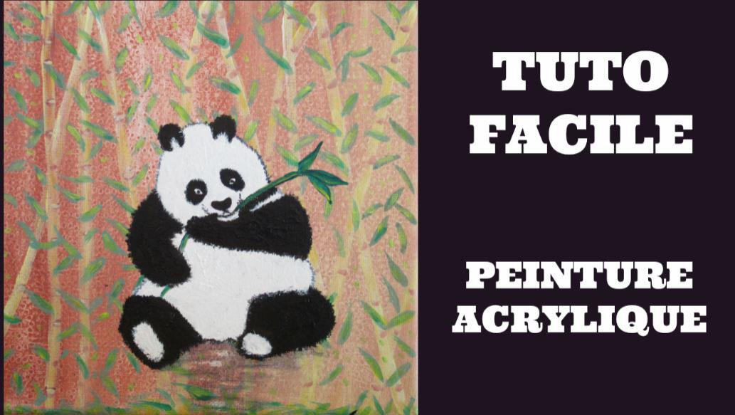 comment peindre un panda facilement tuto peinture. Black Bedroom Furniture Sets. Home Design Ideas