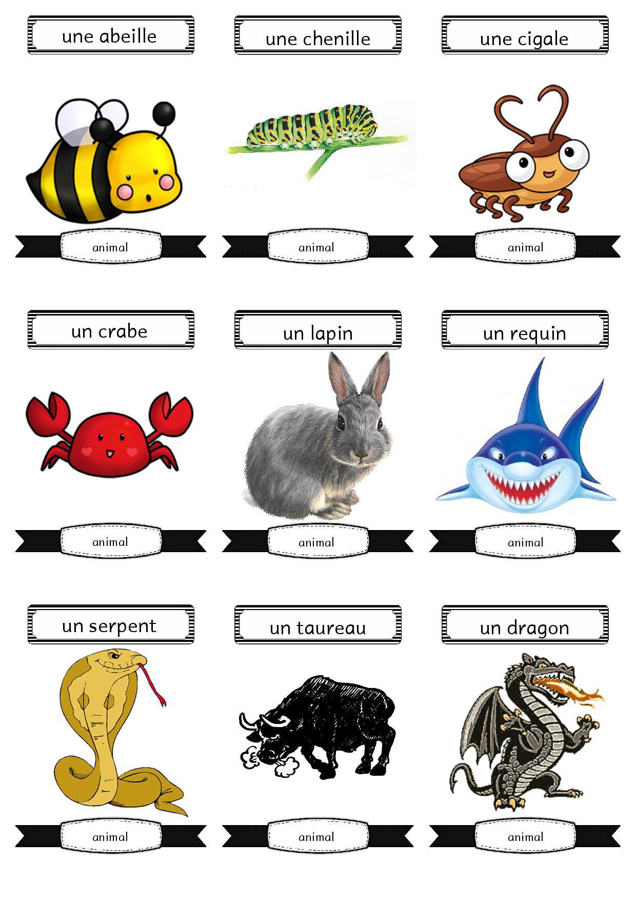 Jeux de mimes fiches de pr parations cycle1 cycle 2 ulis - Images animaux a imprimer ...
