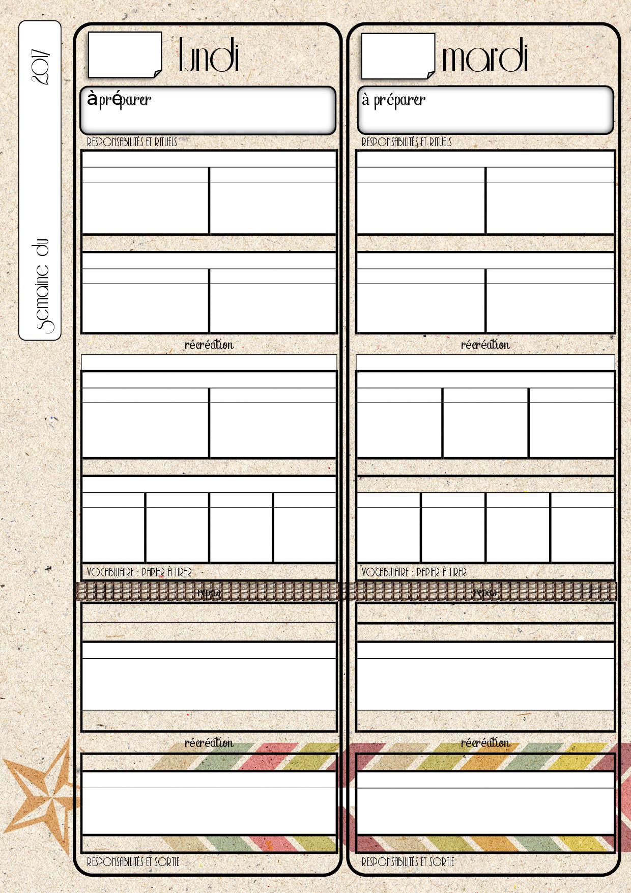 Un exemple de cahier journal - Fiches de préparations ...