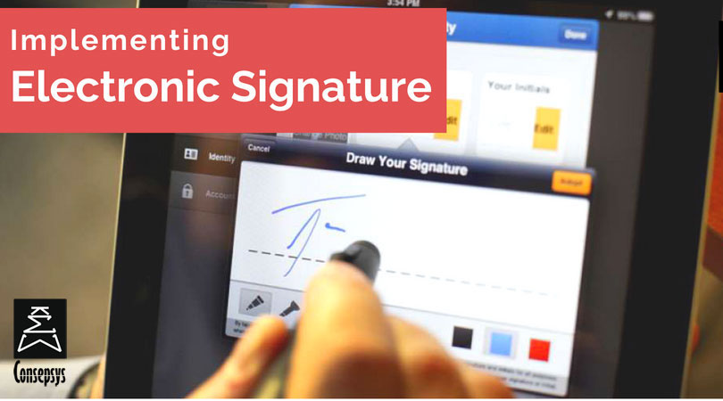 implementing electronic signature on documents