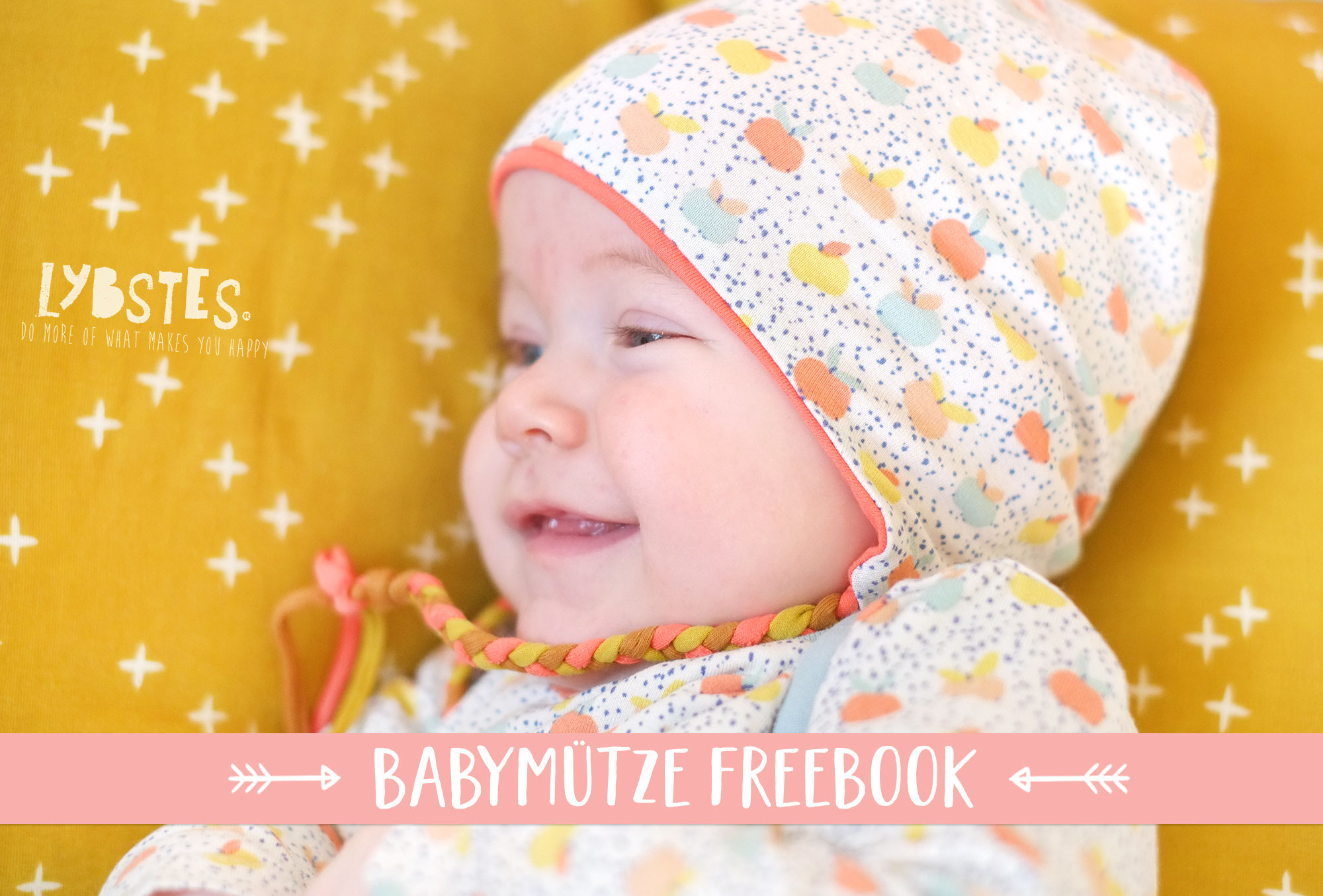 4ade0a57ccde89 FREEBOOK: Babymütze mit Ohrenschutz nähen - Lybstes.