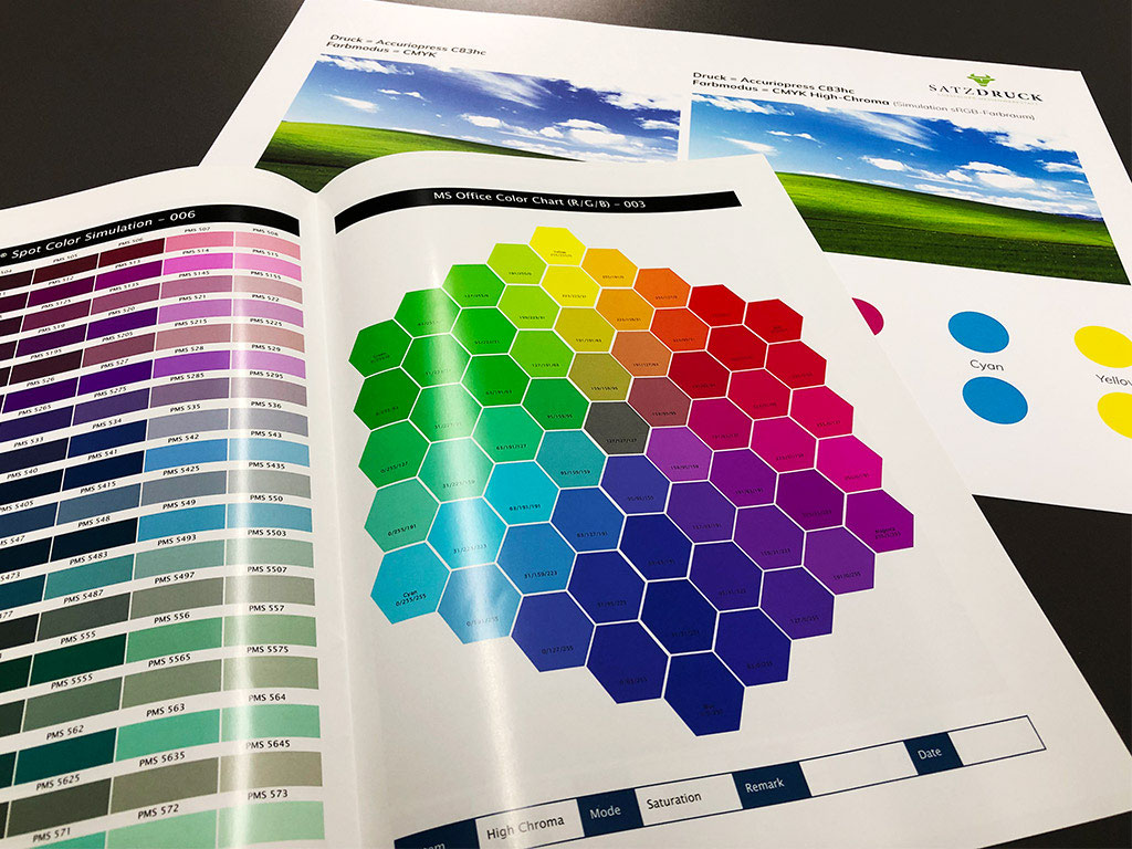 Rgb Sonderfarben Drucken Digitaldruck Satzdruck
