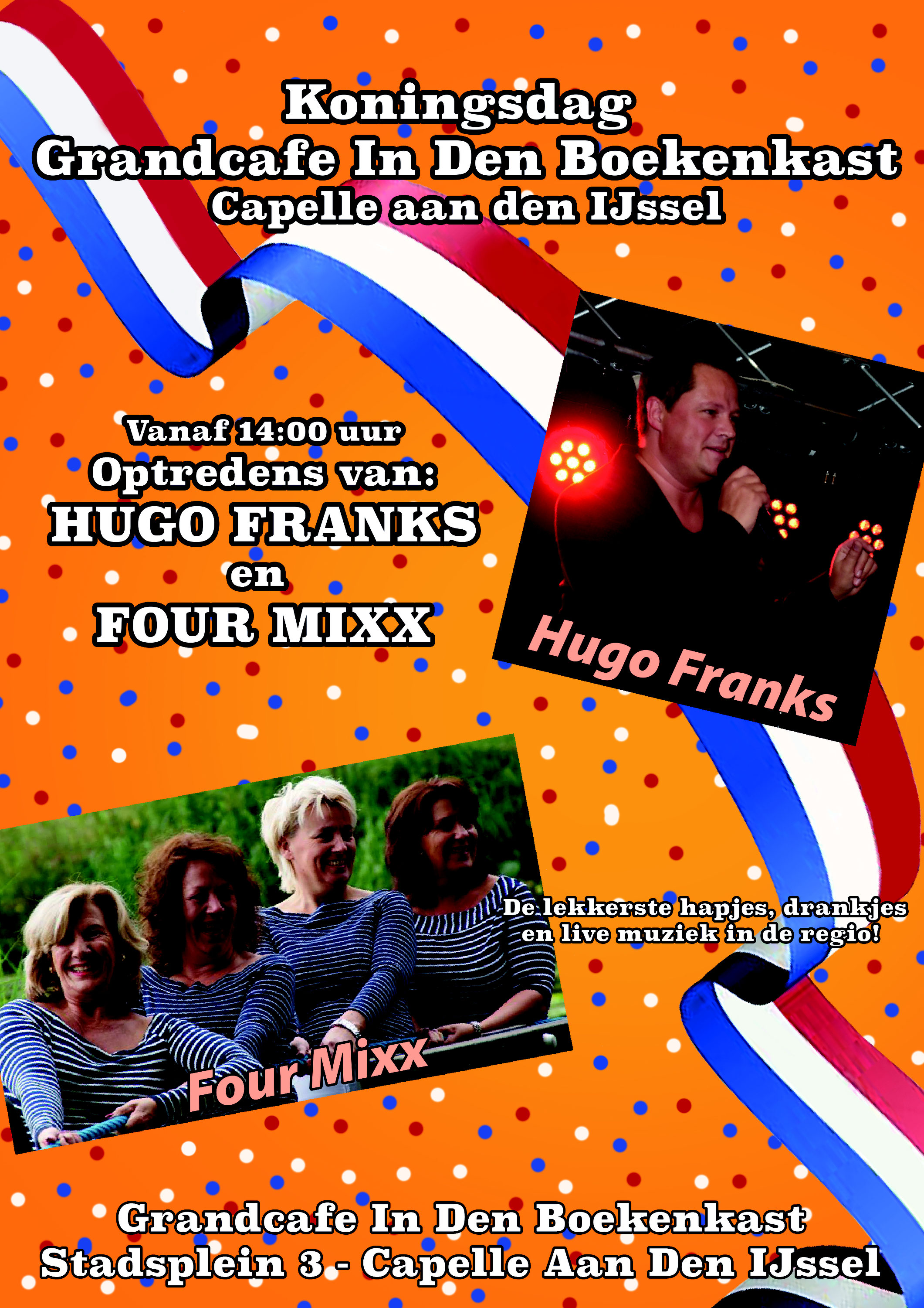 koningsdag 2018 capelle aan den ijssel hugo franks piano keyboard vocal entertainer