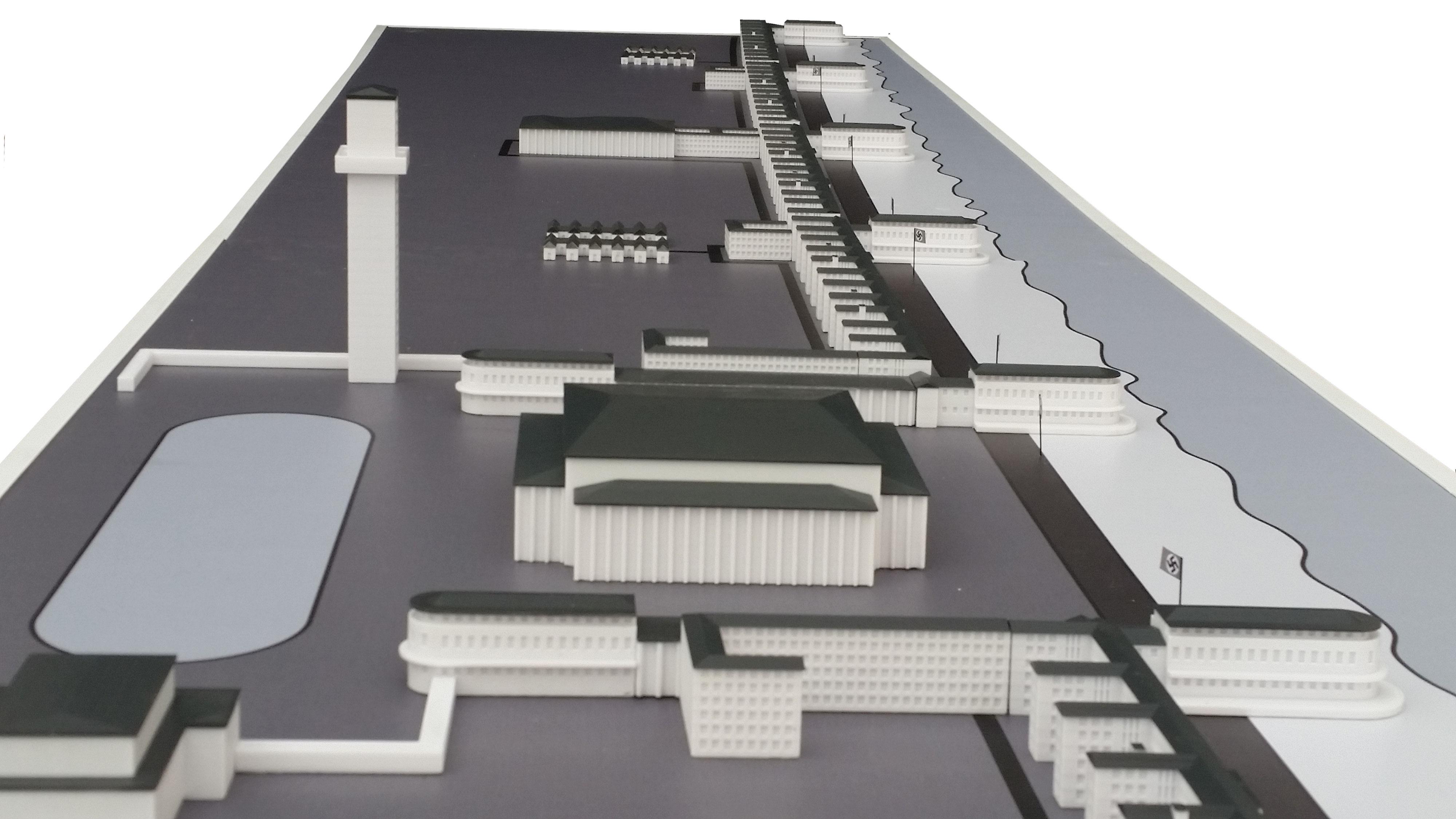 3d gedrucktes modell vom kdf seebad prora 3d druck. Black Bedroom Furniture Sets. Home Design Ideas