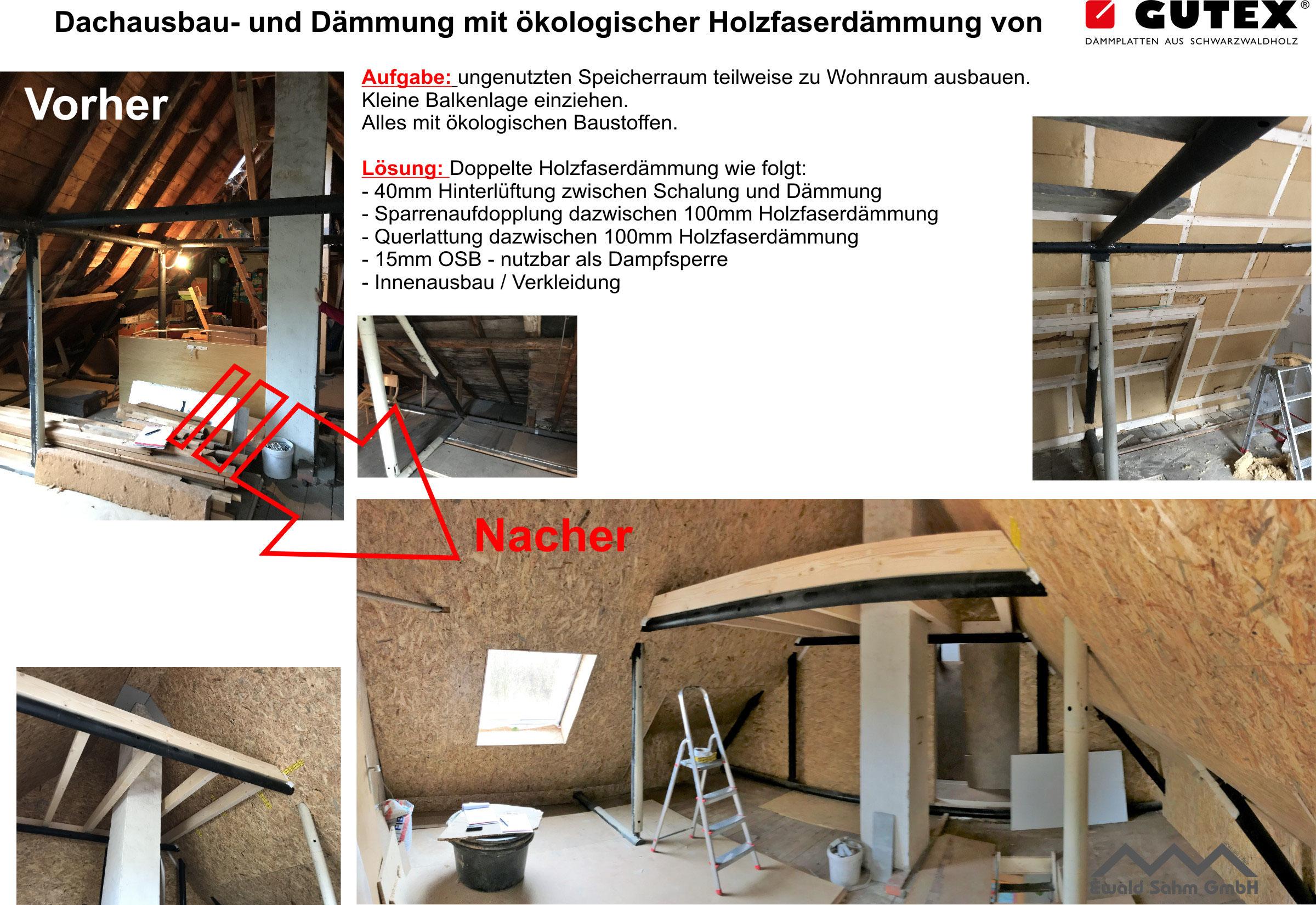 dachausbau mit holzfaserdämmung. wohnraum nutzen - dach ausbauen