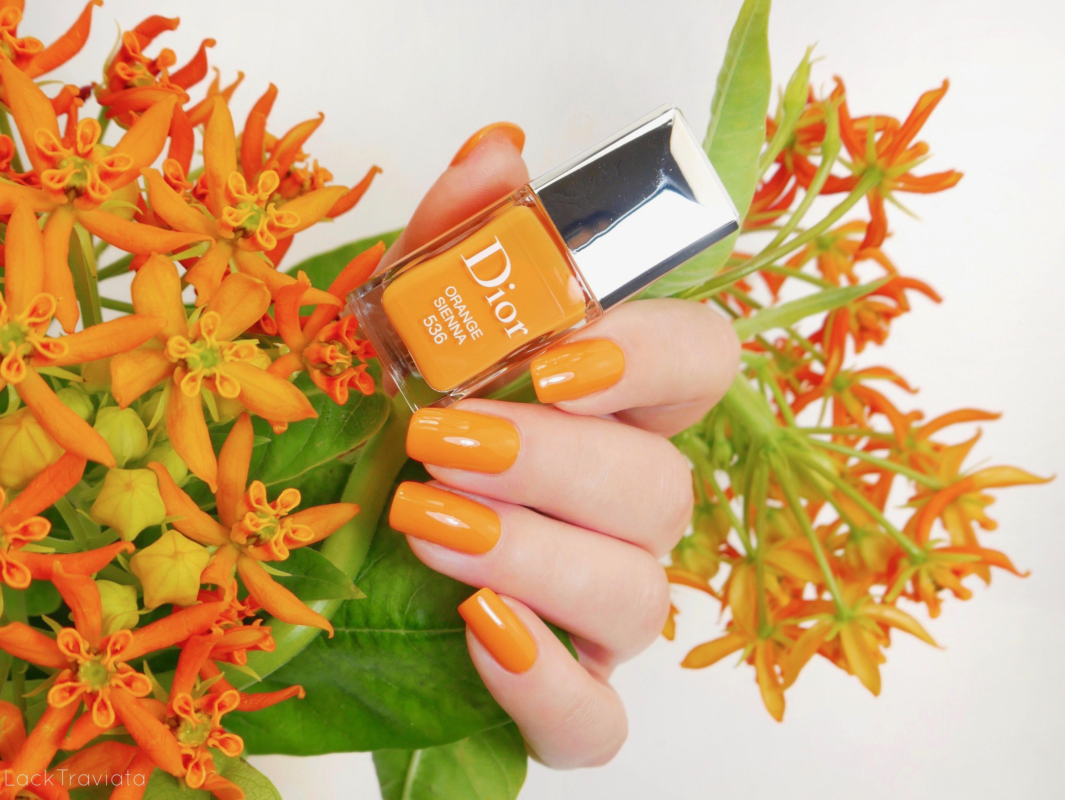Dior Orange Sienna 536 Dior Wild Earth Collection Summer 2019 Lacktraviata Nagellack Liebe