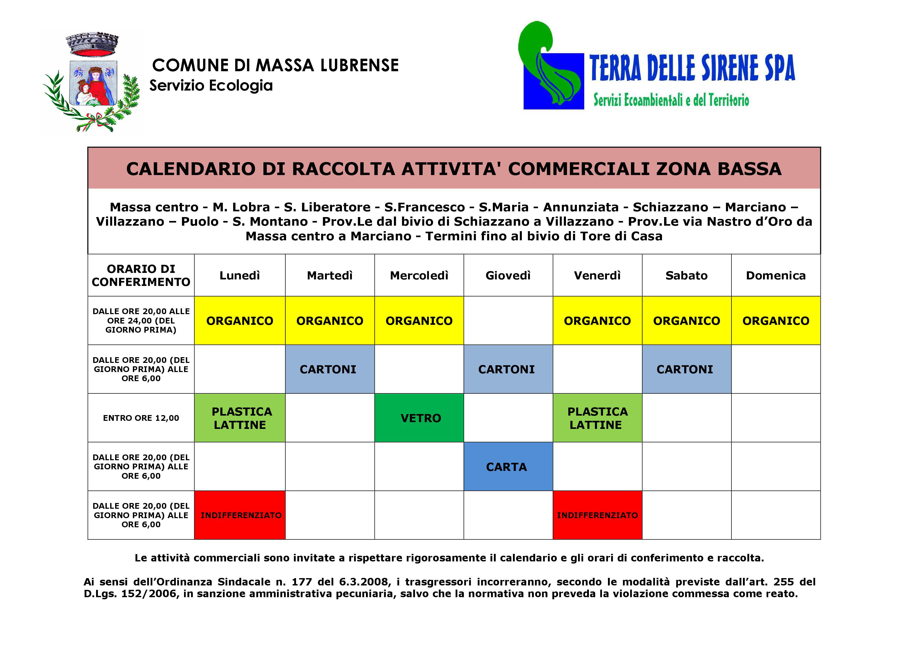 Calendario Attivita.Calendario Attivita Commerciali Zona Bassa