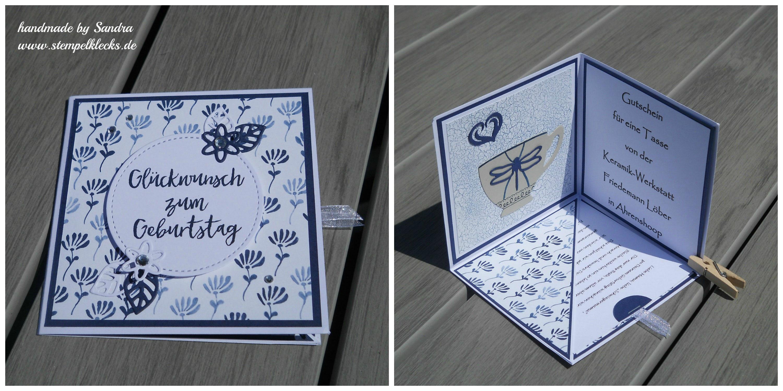 Anleitung Corner Pop Up Card Stempeln Stanzen Und Basteln Mit