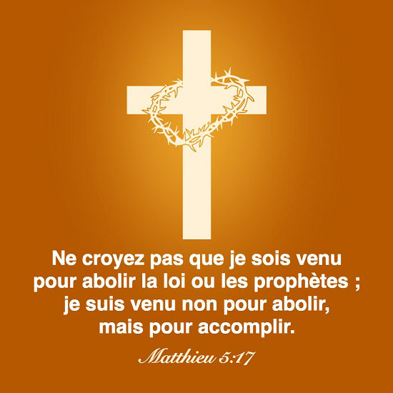Évangile du jour – Matthieu 5:17 - Dieu est mon Sauveur