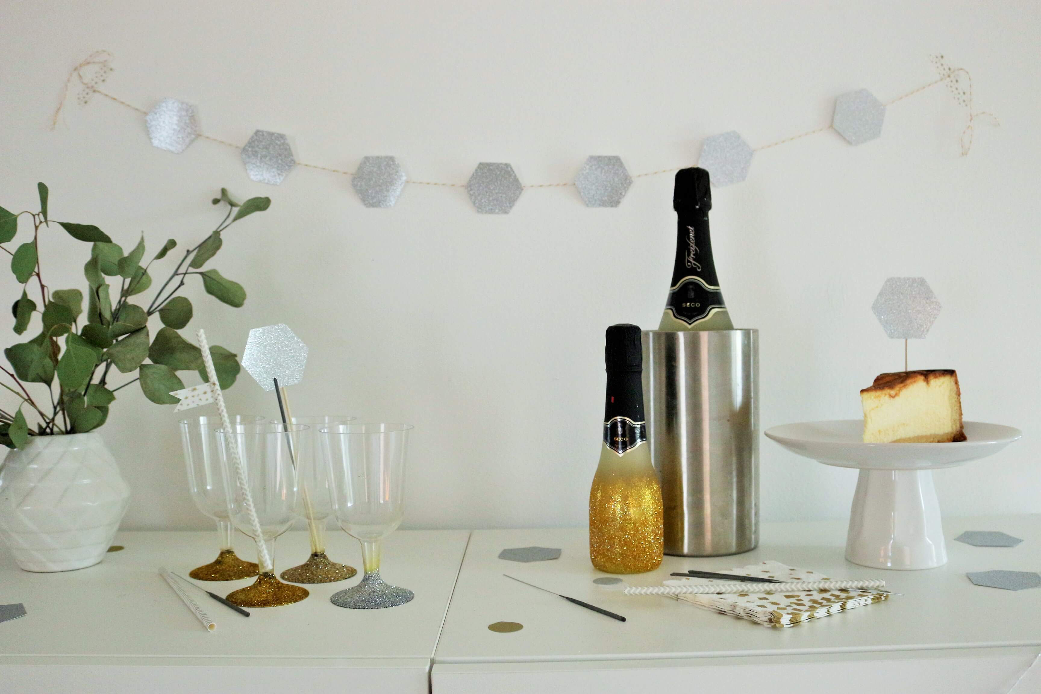 diy party deko und dekoration f r die hochzeit mit einem. Black Bedroom Furniture Sets. Home Design Ideas