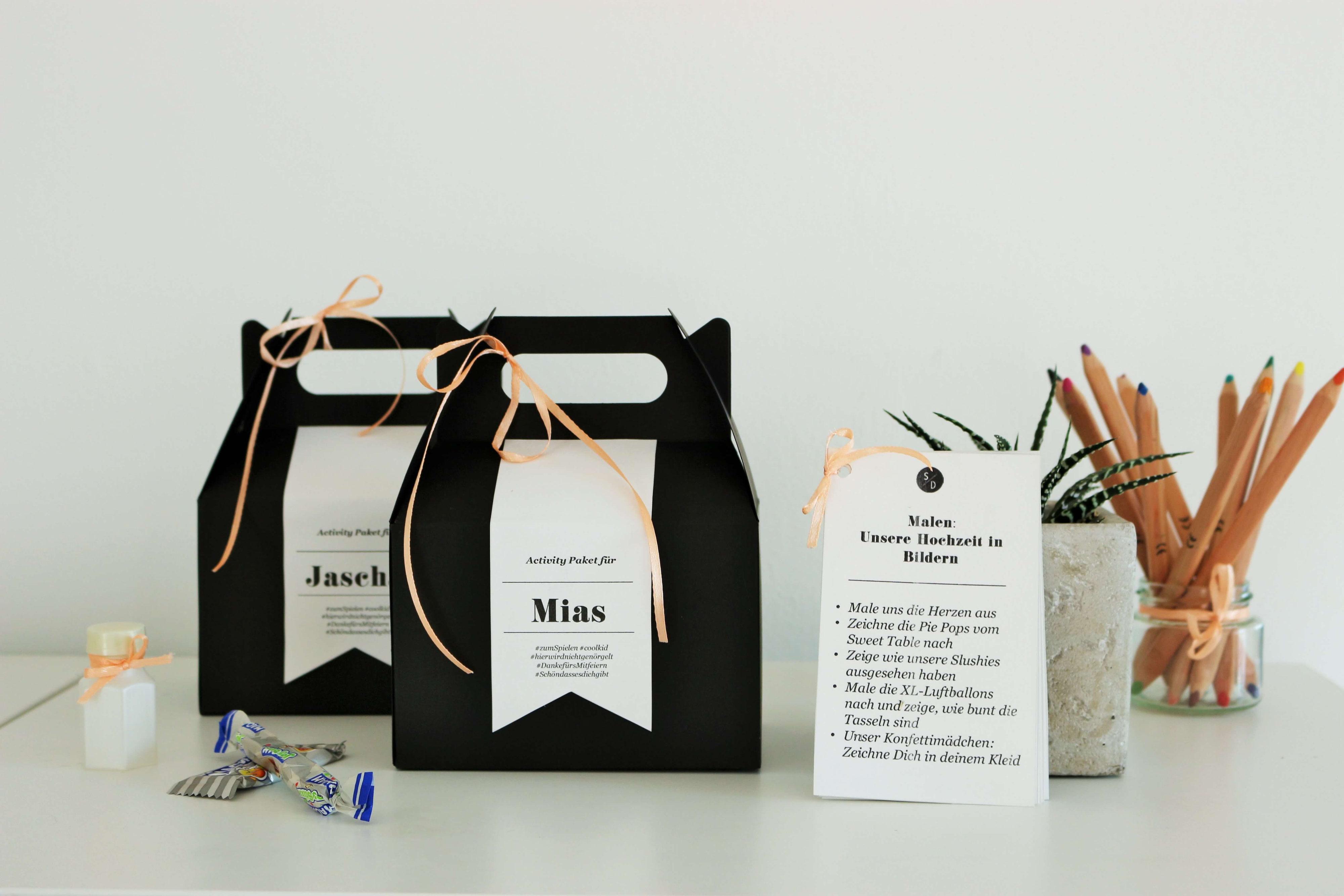 kinder aktivit ten box ideen f r die hochzeit und eine party partystories blog. Black Bedroom Furniture Sets. Home Design Ideas