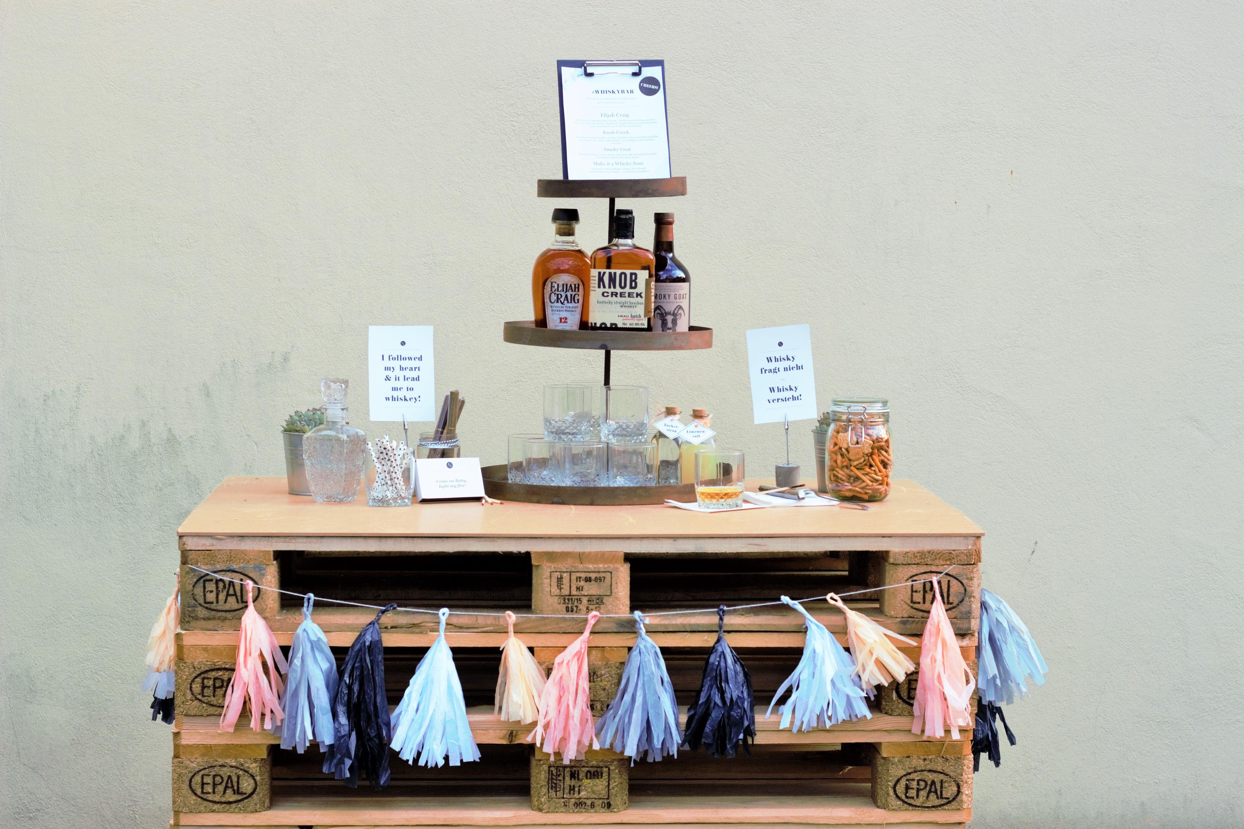 ideen und tipps f r eine whisky bar oder gentlemen bar f r die party und hochzeit. Black Bedroom Furniture Sets. Home Design Ideas