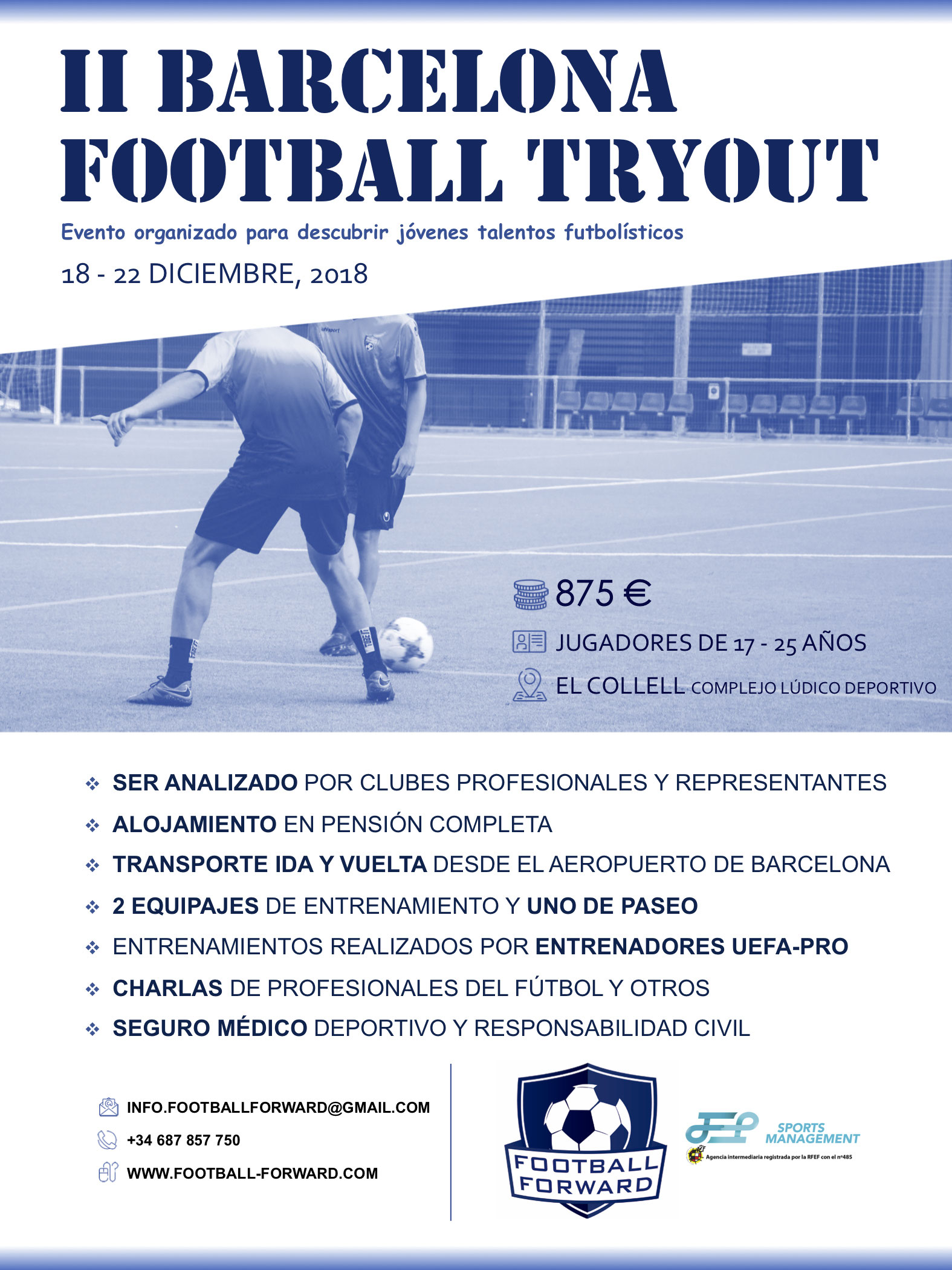 II Edición de los Tryouts Football Barcelona - agentes fifa 0791006d87343
